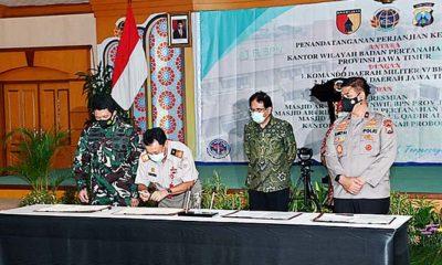 Amankan aset negara, Kodam V/Brawijaya tingkatkan kerjasama dengan BPN.