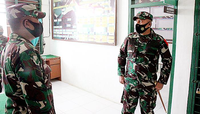 Dandim 0101/BS, Cek kesiapan operasional personil dan materil Koramil 04/Lhoong.