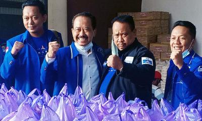 Jelang Idul Fitri, Legislator Demokrat Jatim tebar 4000 paket sembako untuk masyarakat Kediri.