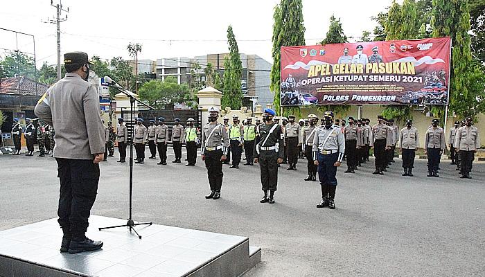 Sambut Idul Fitri, Polres Pamekasan gelar pasukan operasi Ketupat Semeru 2021.