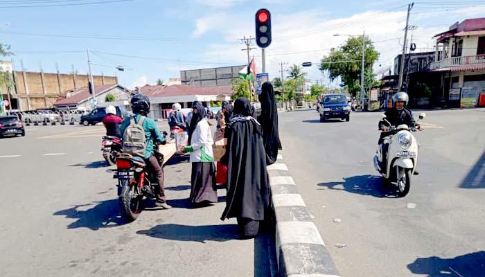 Peduli Palestina, MPI Aceh Barat gelar aksi galang dana.