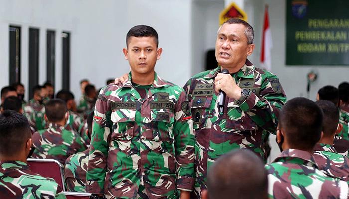 Pengarahan Danrindam XII/Tpr kepada personel Abit Dikmata TNI AD Gelombang II TA 2019.