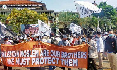 Solidaritas Muslim Untuk Palestina, FUISP Jatim Minta Presiden Jokowi Kirim Pasukan Ke Palestina