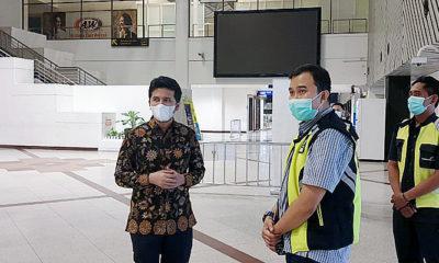 Tinjau Bandara Juanda, Wagub Emil temui petugas taksi yang sepi order.