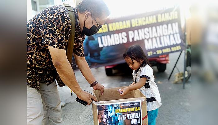 IPM Nunukan galang dana untuk para korban banjir di Lumbis Pansiangan.
