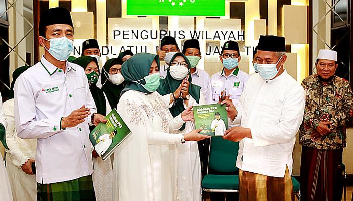 Cari masukan Perda Ponpes, DPW dan FPKB DPRD Jatim Sowan ke PWNU Jatim.
