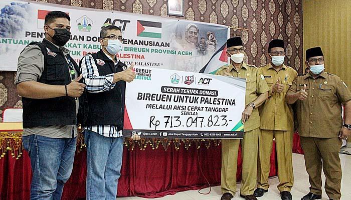 Masyarakat Bireuen salurkan sumbangan Rp 1 Miliar untuk Palestina melalui ACT Aceh.