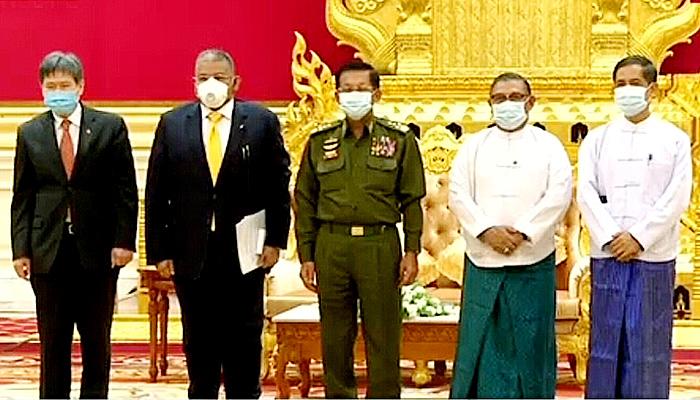 Jenderal Senior Min Aung Hlaing menerima Delegasi ASEAN pada hari Jum'at (5/5).
