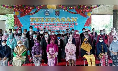 SDN Bojong Sari 01 menggelar kegiatan pelepasan peserta didik kelas VIE pada hari Rabu (16/6) di Villa Anugrah Kedaung Sawangan kota Depok.