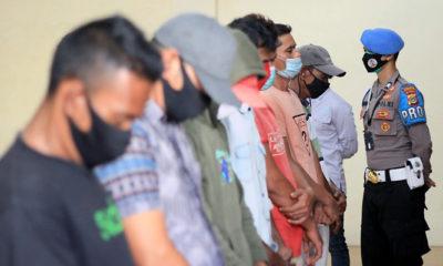 Polres Lhokseumawe ringkus tujuh pelaku pungli di Pasar Inpres.