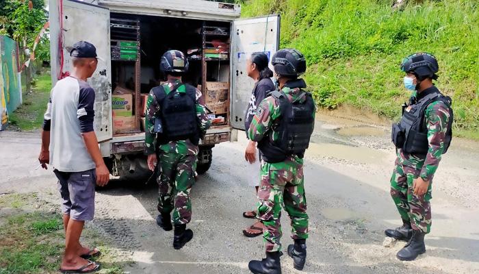Sweeping rutin, Satgas 512 wujudkan kondusifitas di perbatasan Indonesia-Papua Nugini.