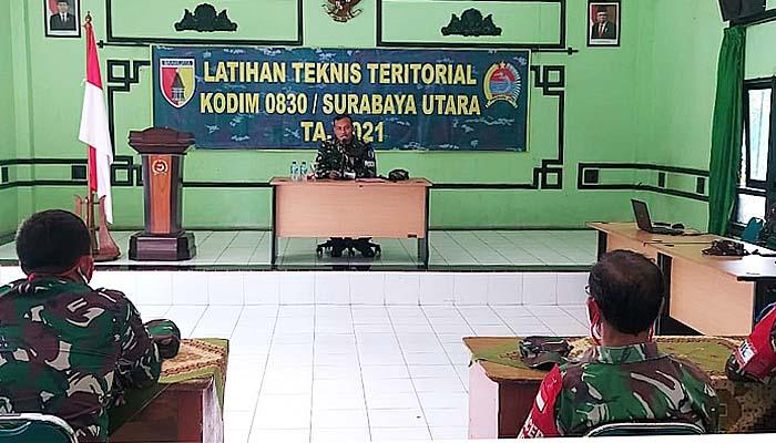 Dandim Surabaya Utara resmikan pelaksanaan latihan teknis territorial.