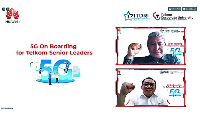 Kolaborasi ITDRI dan Huawei dalam 5G On Boarding for Telkom Senior Leader.