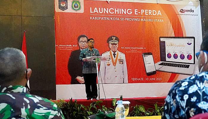 Dukung regulasi daerah berkualitas, Kemendagri luncurkan e-Perda di Maluku Utara.