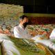 Kunjungi Gudang Bulog, presiden pastikan stok beras nasional.