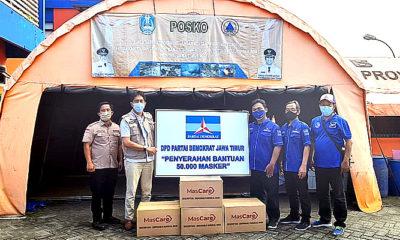Pandemi Covid-19 di Jatim meningkat, Demokrat kirim 50 ribuan masker.