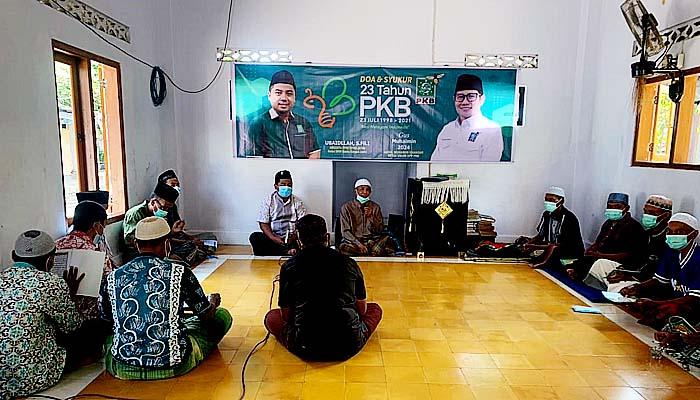 Harlah PKB Ke 23, Legislator Jatim Ubaidillah gelar khataman Quran dan tebar paket sembako.