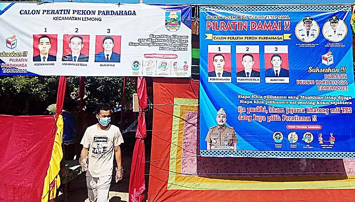 Pilkades Serentak di Kabupaten Pesisir Barat Provinsi Lampung Dilaksanakan Taat Prokes