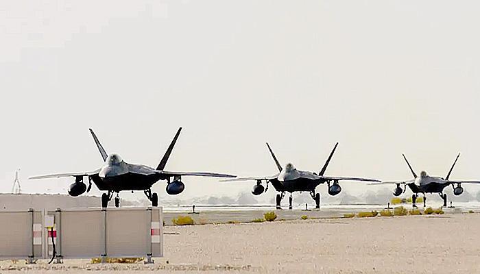Puluhan jet tempur siluman F-22 Raptor dikerahkan ke Guam.