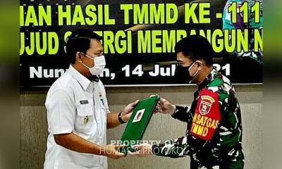 Pemkab Nunukan Apresiasi TMMD WILTAS Ke-111 TA 2021