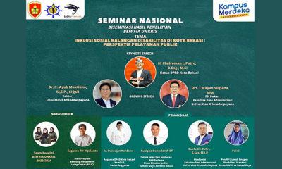 BEM-FIA UNKRIS Gelar Seminar Nasional Inklusi Sosial Kalangan Disabilitas di Kota Bekasi