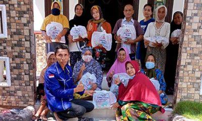 Sambut HUT RI Ke-76 Tahun, Legislator Samwil bagikan 1200 paket sembako.