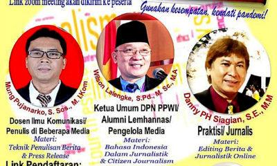 PPWI Gelar Pelatihan Jurnalitik Peringati HUT RI Ke-76