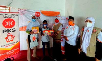 Ceriakan Anak Indonesia di Tengah Pandemi,PKS Jatim Bagi Paket Nutrisi