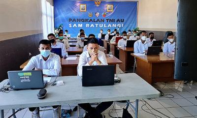 Tes Psikologi Calon Siswa Tamtama PK TNI AU Gelombang III TA 2021 di Lanud Sam Ratulangi