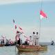 Kodim Sorong Gelar Peringatan Hut RI-76 di Tengah Laut