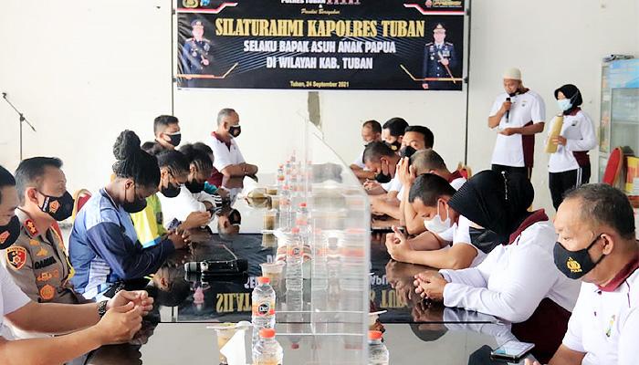 Sandang Orang Tua Asuh, Kapolres Tuban Gelar Silaturahmi Bersama Pelajar Papua