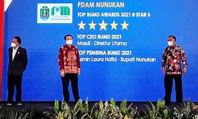 PDAM Nunukan Raih Penghargaan Top BUMD Awards Bintang 5