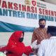 Pemdes Karduluk Dukung Pelaksanaan Vaksinasi Serentak di Pondok Pesantren An-Najah