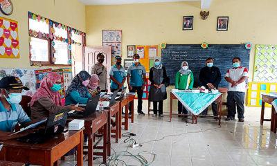 Tiga Pilar Kecamatan Sukorejo Pantau Vaksinasi Covid-19 Desa Gandukepuh