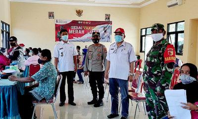 Serbu Gerai Vaksin Merah Putih, Ratusan Warga Kecamatan Bungkal Diminta Tetap Patuhi Prokes